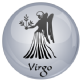 Virgo Astrology Grey 25mm Keyring